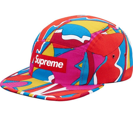 Supreme Abstract Camp Cap - Red - CopvsDrop