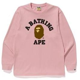 "Bape College ""ABA"" Long Sleeve - Pink-*"