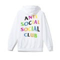 Anti Social Social Club Rainbow Hoodie - White/Multi
