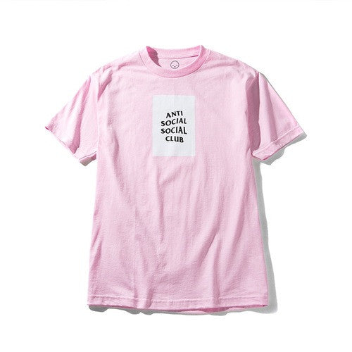 Anti Social Social Club Mind Games Tee - Pink w/ White - CopvsDrop