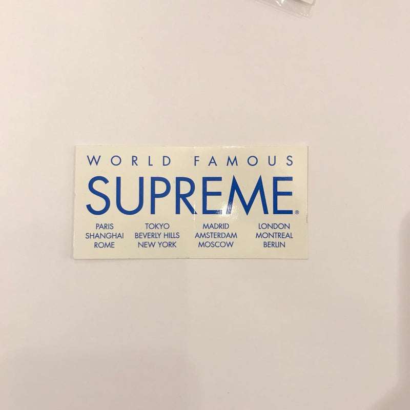 Supreme International Sticker - White