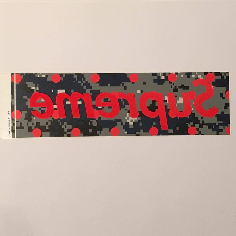 Supreme CDG Box Logo Sticker Part 2 - Navy