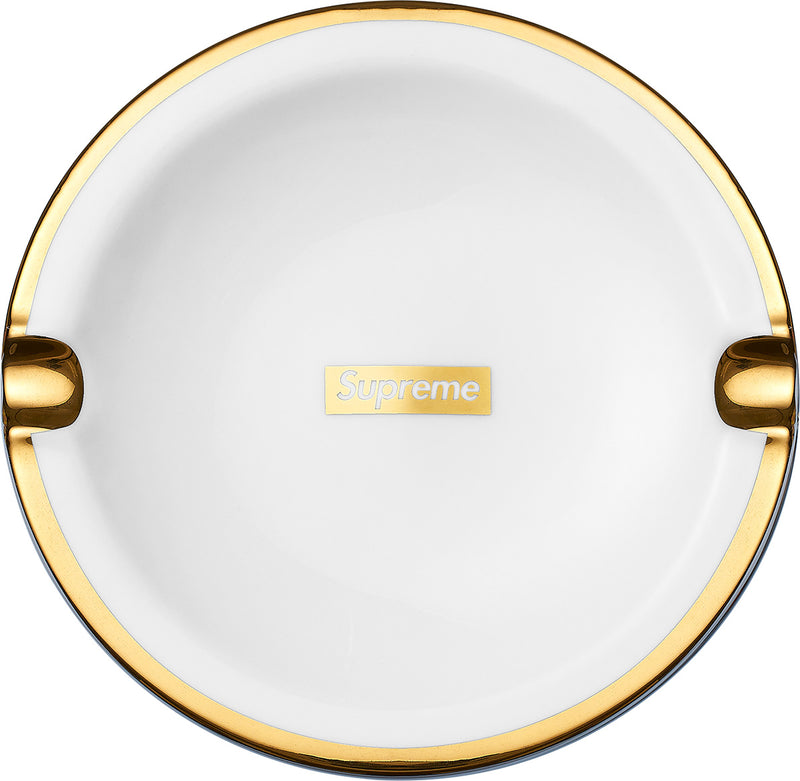 Gold Trim Ceramic Ash Tray - CopvsDrop