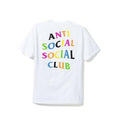 Anti Social Social Club Rainbow Tee - White/Multi