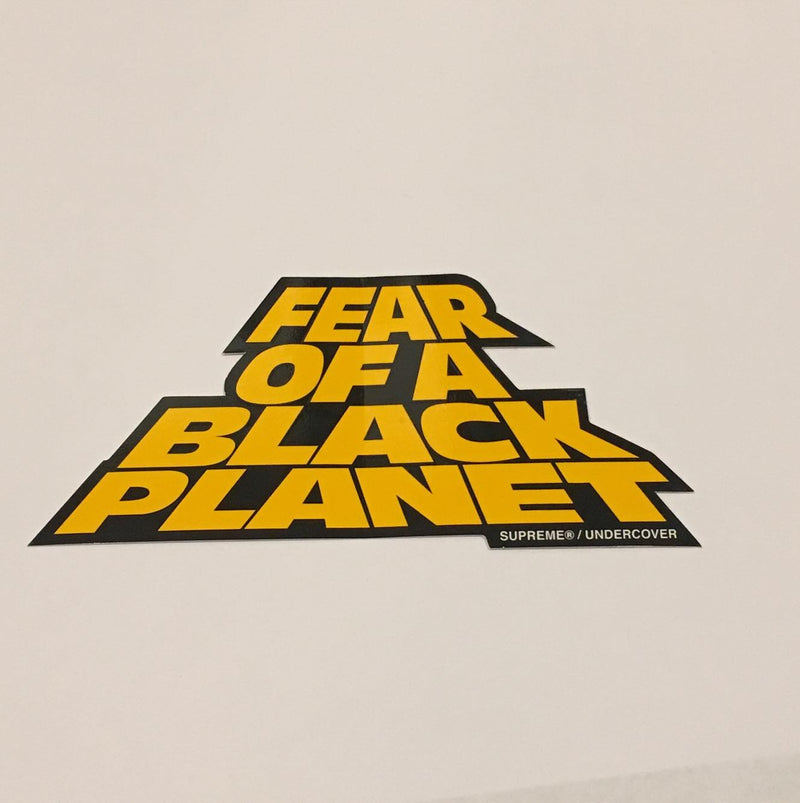 Supreme Fear Of A Black Planet Sticker - Yellow