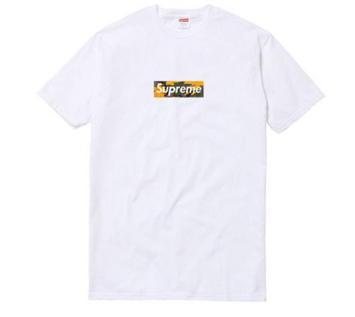 Supreme Brooklyn Box Logo Tee - Yellow Camo