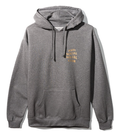 Anti Social Social Club Metal Gear Solid Hoodie -  Grey w/ Gold - CopvsDrop