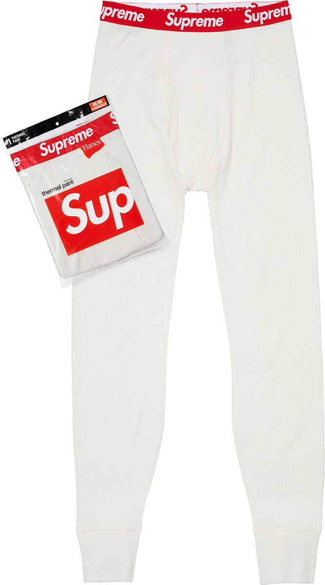 Supreme Hanes Thermal Pants - White