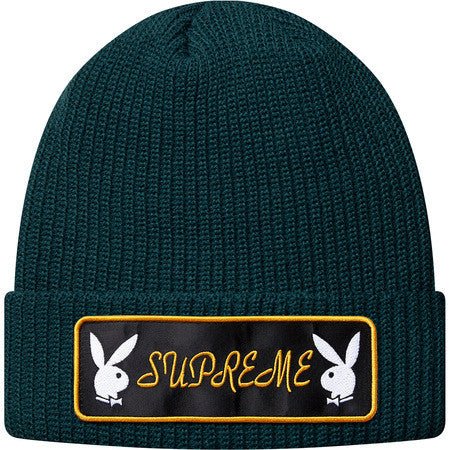 Supreme Playboy Beanie - Dark Green