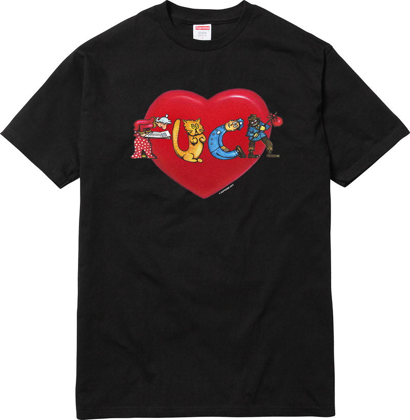 Supreme Heart Tee - Black - CopvsDrop