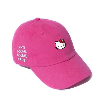 Anti Social Social Club Hello Kitty Brim Cap - Hot Pink