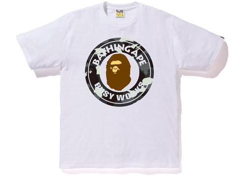 Bape Busy Works Tee - White/ City Camo