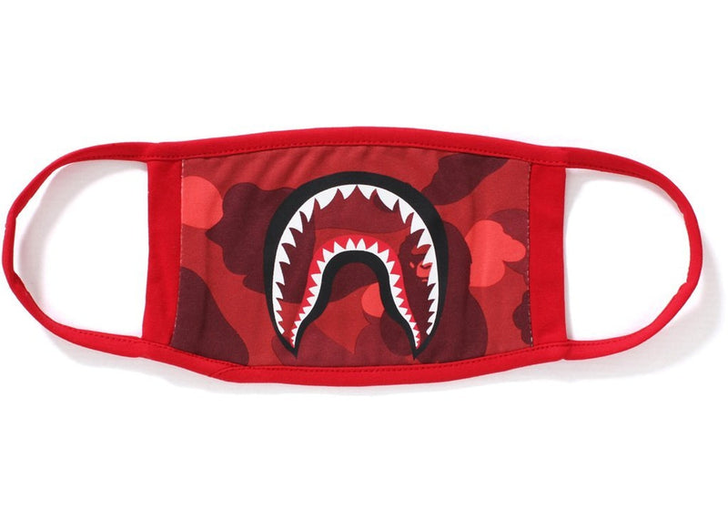 Bape Color Camo Shark Mask Red