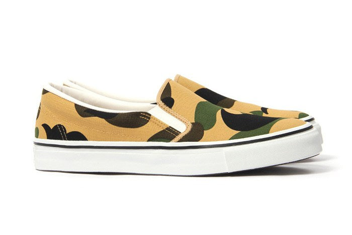 Bape Camo Slip On's - Yellow Camo-*