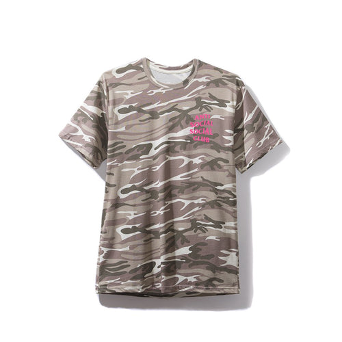 Anti Social Social Club Ghost Tee - Camo w/ Pink