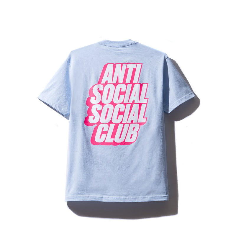Anti Social Social Club Blocked Tee - Sky Blue