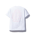 Anti Social Social Club Blocked Logo Tee - White w/ Pink