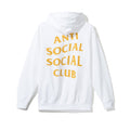 "Anti Social Social Club ""Moody"" Hoodie - White w/ Yellow"