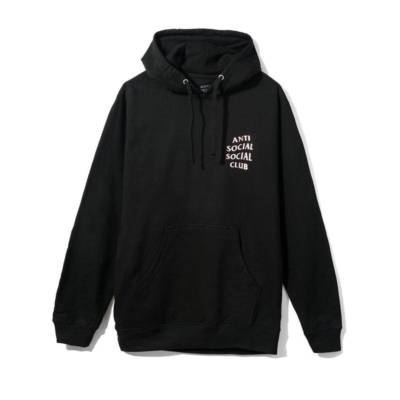 Anti Social Social Club Stressed Hoodie - Black w/ Metallic Pink-*