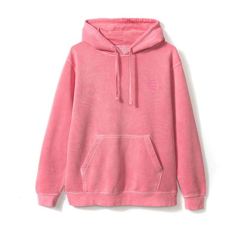 Anti Social Social Club Stitched Logo Hoodie - Red-*