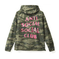 Anti Social Social Club Break Me Windbreaker - Green Camo/Pink