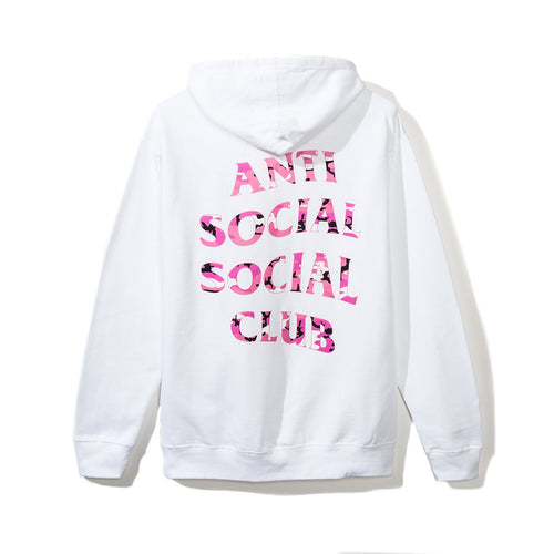 "Anti Social Social Club ""Beverly"" Hoodie - White W/ Pink Camo-*"