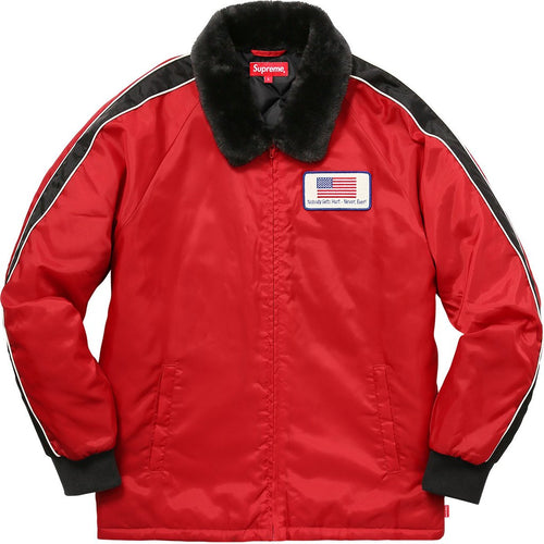 Supreme Freighter Jacket - Red-*
