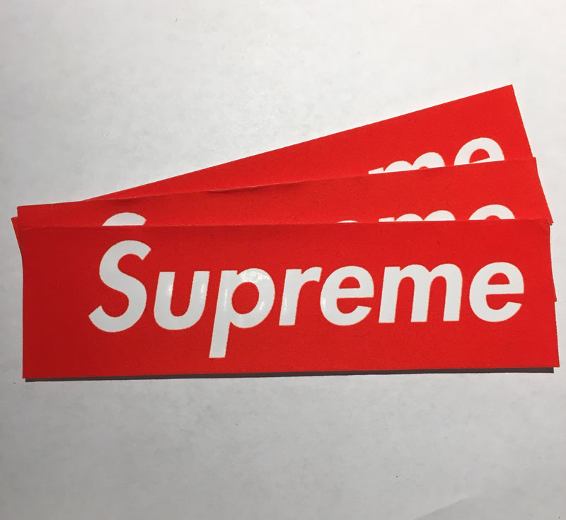 Supreme Felt Box Logo Sticker - Red - CopvsDrop