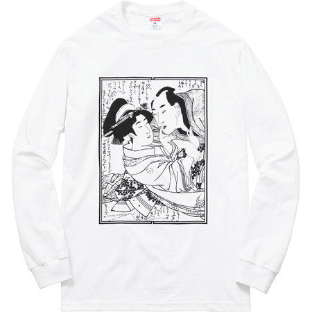 Supreme Sasquatchfabrix Shunga Long Sleeve Tee - White