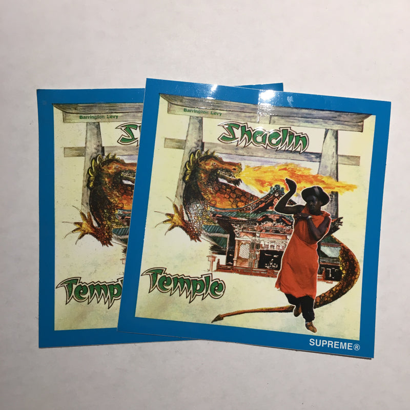 "Supreme Barrington Levy ""Shaolin Temple"" Sticker - Blue"