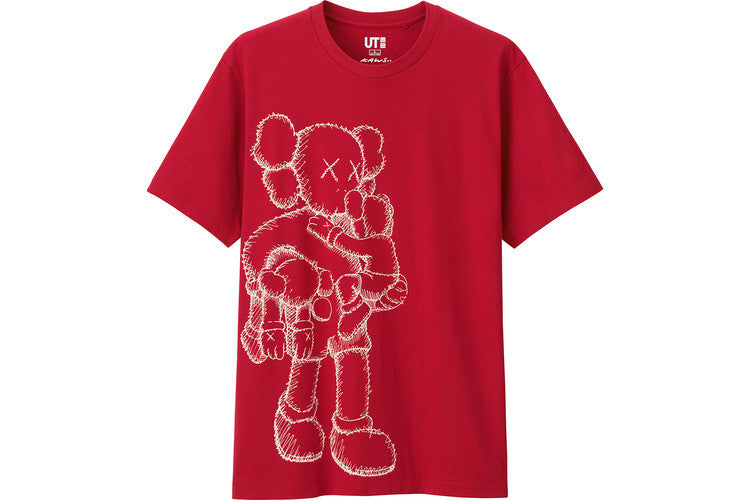 Kaws Uniqlo Standing Tee - Red - CopvsDrop