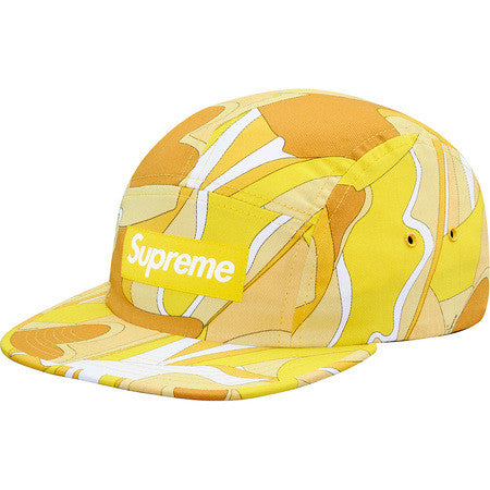 Supreme Abstract Camp Cap - Yellow - CopvsDrop