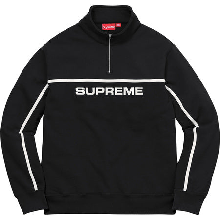 Supreme 2-Tone Half Zip Sweatshirt - Black-*