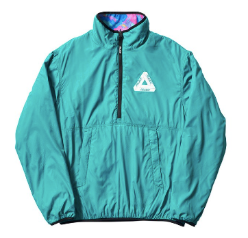 Palace Warper Reversible Fleece - Teal/Multi-*