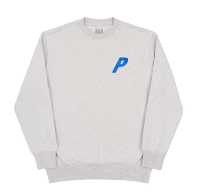 Palace Flocka P Crewneck - Grey -*