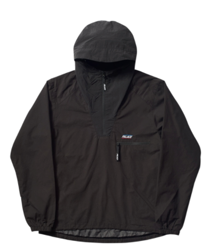 Palace Outer Shell Smock - Black-*