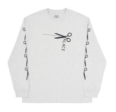 Palace Scissor Long Sleeve - Grey-*