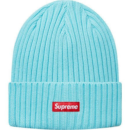 Supreme Overdyed Ribbed Beanie - Ice Blue