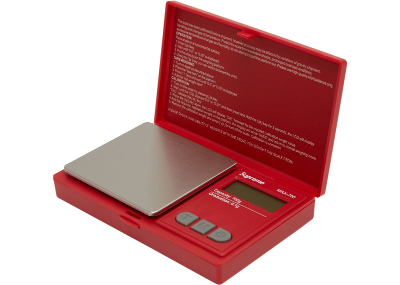 Supreme Digital Scale - Red