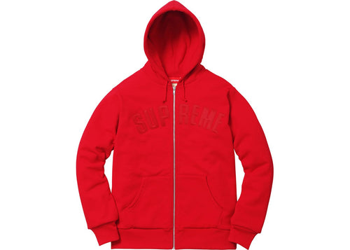Supreme Arc Logo Thermal Zip Up - Red