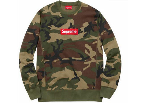Supreme Box Logo Crewneck - Green Camo