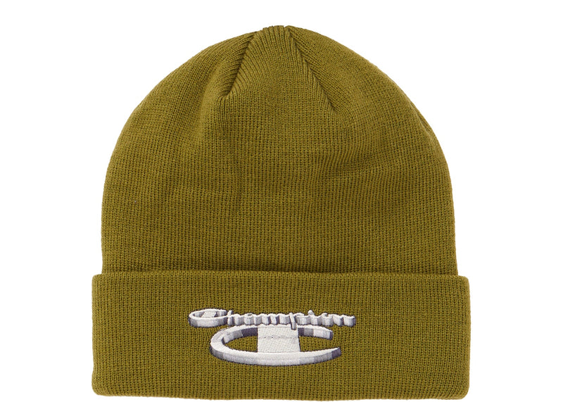 Supreme Champion 3D Metallic Beanie Olive