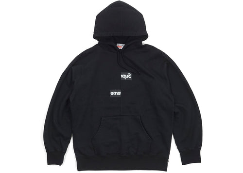Supreme Comme des Garcons SHIRT Split Box Logo Hooded Sweatshirt - Black