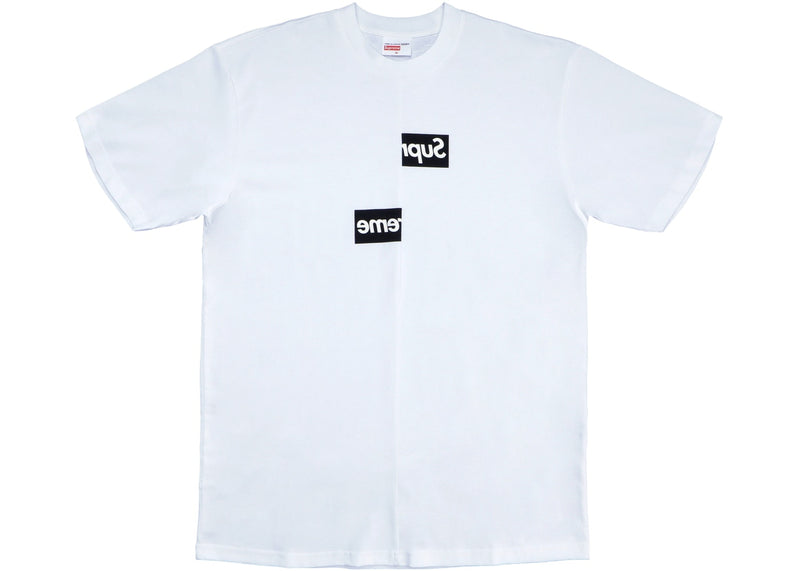 Supreme Comme des Garcons SHIRT Split Box Logo Tee - White