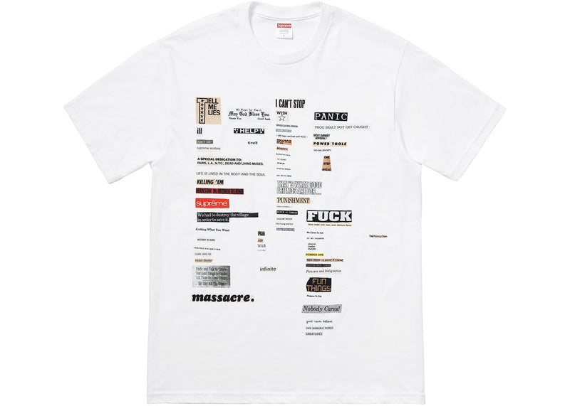 Supreme Cutouts Tee - White