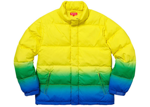 Supreme Gradient Puffy Jacket - Yellow