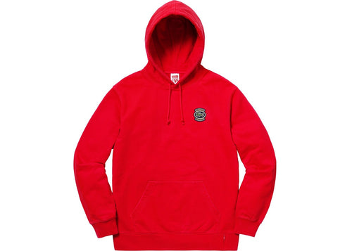 Supreme Lacoste Hooded Sweatshirt - Red
