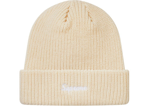 Supreme Loose Gauge Beanie (FW18) - Natural/White