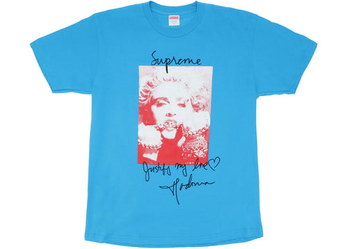 Supreme Madonna Tee - Bright Blue