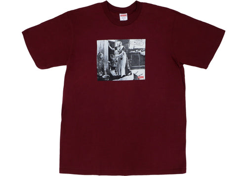 Supreme Mike Kelley Hiding From Indians Tee - Burgundy